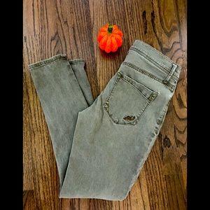 Express Jeans-olive color